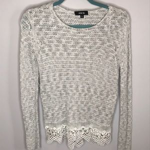 Active USA Lace Bottom Sweater